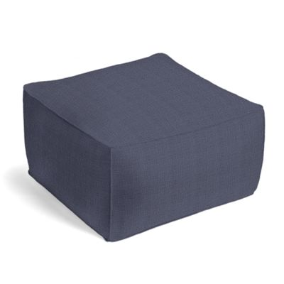 Navy Blue Lightweight Linen Pouf