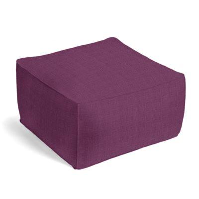 Magenta Purple Linen Pouf