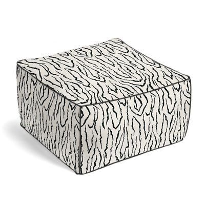 Black & White Animal Print Pouf