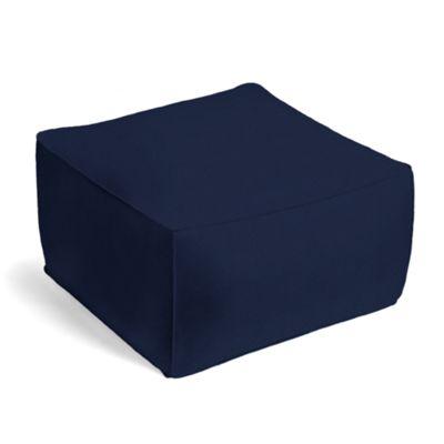 Navy Blue Velvet Pouf