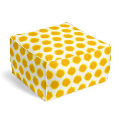 Bright Yellow Dot Pouf