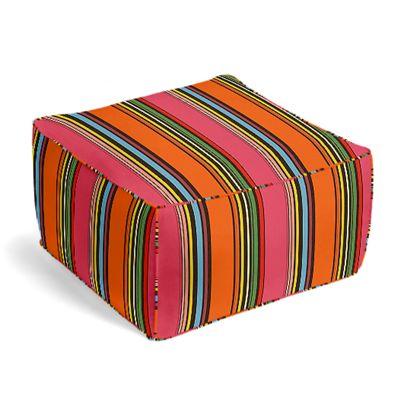 Pink Multicolor Stripe  Pouf