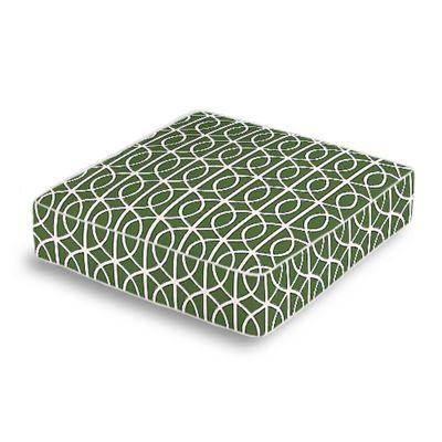 Modern Green Trellis Box Floor Pillow