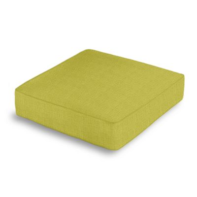 Chartreuse Green Linen Box Floor Pillow