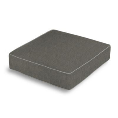 Charcoal Gray Linen Box Floor Pillow