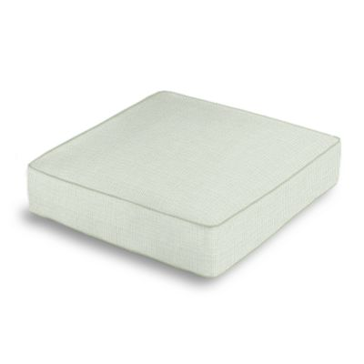 Pale Seafoam Slubby Linen Box Floor Pillow