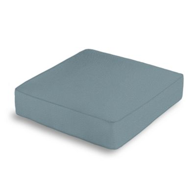 Slate Blue Slubby Linen Box Floor Pillow
