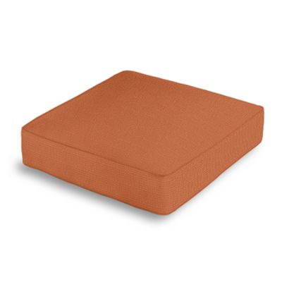 Burnt Orange Slubby Linen Box Floor Pillow