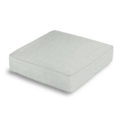 Pale Gray Slubby Linen Box Floor Pillow