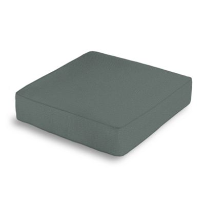 Charcoal Slubby Linen Box Floor Pillow