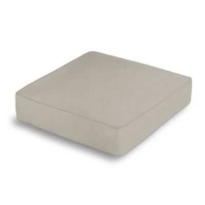 Beige Slubby Linen Box Floor Pillow