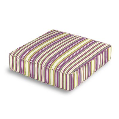 Green & Purple Stripe Box Floor Pillow