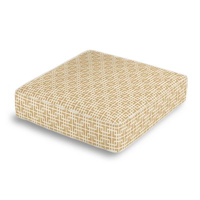 Beige Square Lattice Box Floor Pillow