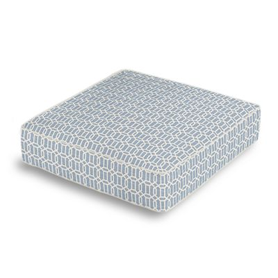 Sky Blue Lattice Box Floor Pillow