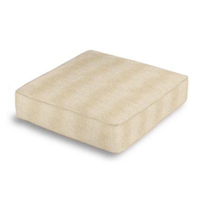 Silvery Tan Metallic Linen Box Floor Pillow
