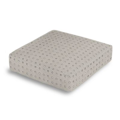 Silver Studded Taupe Box Floor Pillow