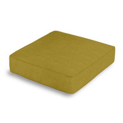 Chartreuse Green Velvet Box Floor Pillow