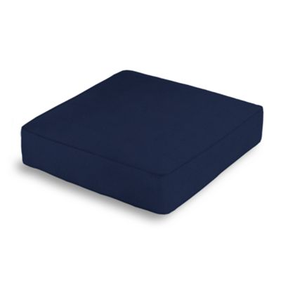 Navy Blue Velvet Box Floor Pillow