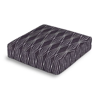 Black & White Diamond Box Floor Pillow