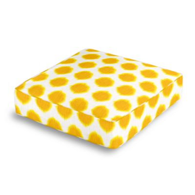 Bright Yellow Dot Box Floor Pillow