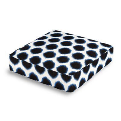 Black & Blue Dot Box Floor Pillow