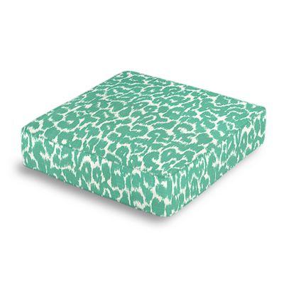 Bright Green Leopard Print Box Floor Pillow