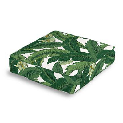 Green Banana Leaf Box Floor Pillow