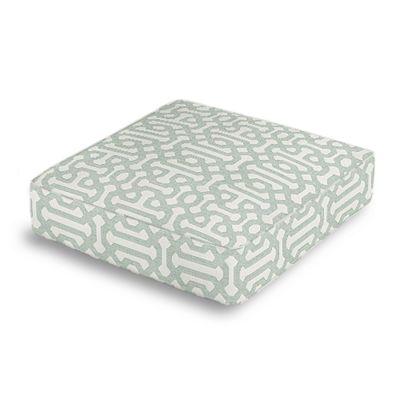 Pale Seafoam Trellis Box Floor Pillow