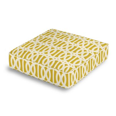 Bright Yellow Trellis Box Floor Pillow