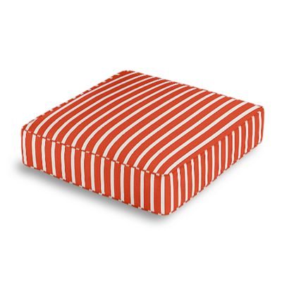 Flame Red Thin Stripe Box Floor Pillow