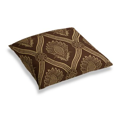 Brown Medallion Trellis Floor Pillow