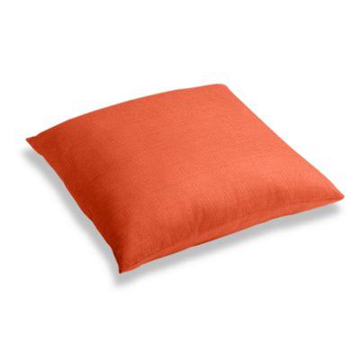 Solid Coral Linen Floor Pillow
