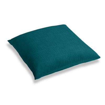 Dark Teal Linen Floor Pillow
