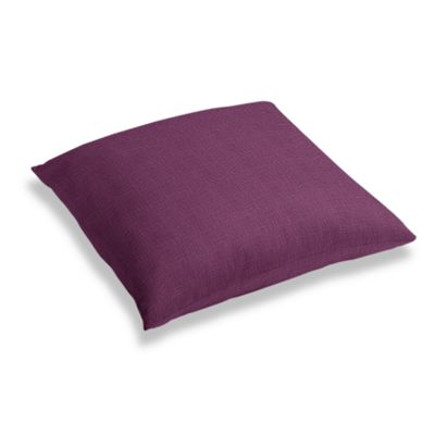 Magenta Purple Linen Floor Pillow