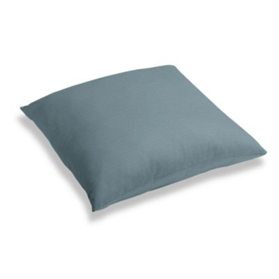 Slate Blue Slubby Linen Floor Pillow