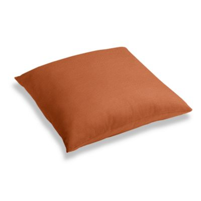 Burnt Orange Slubby Linen Floor Pillow