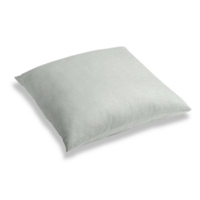 Pale Gray Slubby Linen Floor Pillow