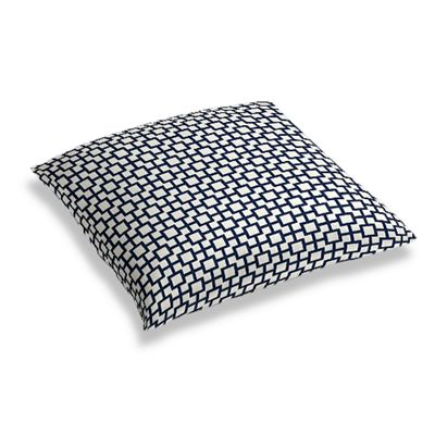 Navy Blue Square Trellis Floor Pillow