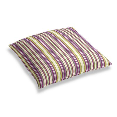 Green & Purple Stripe Floor Pillow