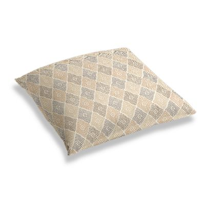 Beige Diamond Block Print Floor Pillow