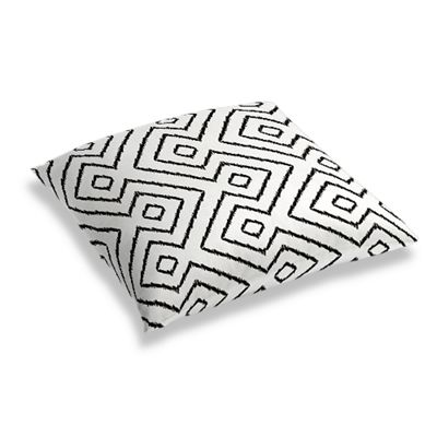 Black & White Diamond Floor Pillow
