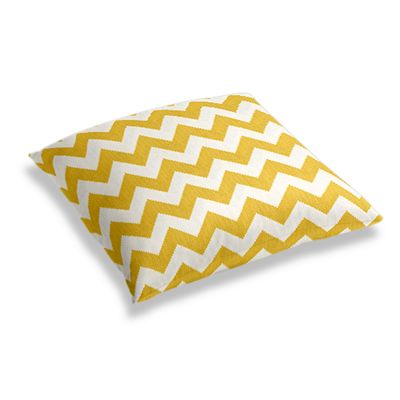 Bright Yellow Chevron Floor Pillow