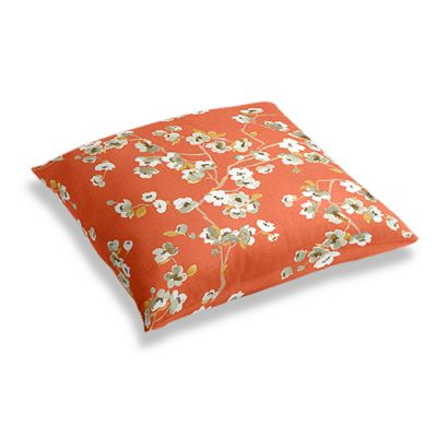 Orange Cherry Blossom Floor Pillow