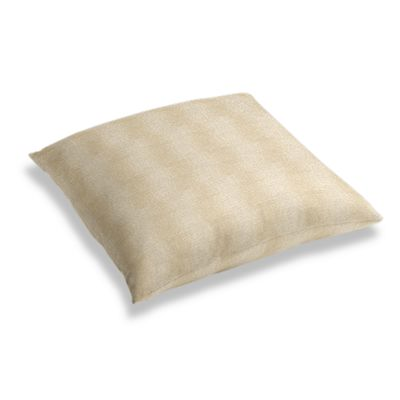 Silvery Tan Metallic Linen Floor Pillow