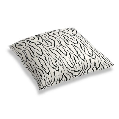 Black & White Animal Print Floor Pillow