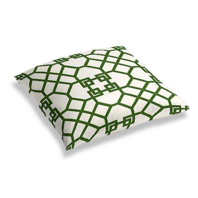 Asian-Style Green Trellis Floor Pillow