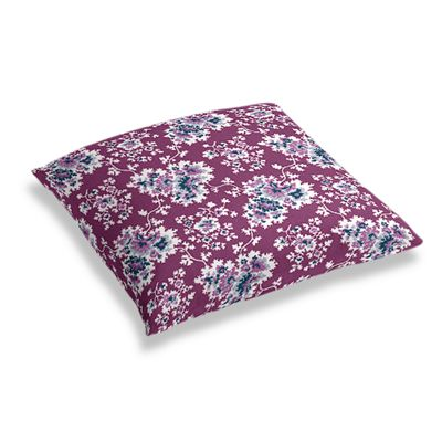 Purple & Teal Leaf Floor Pillow