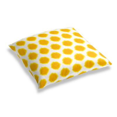 Bright Yellow Dot Floor Pillow