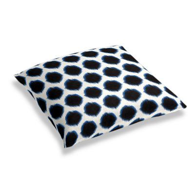 Black & Blue Dot Floor Pillow
