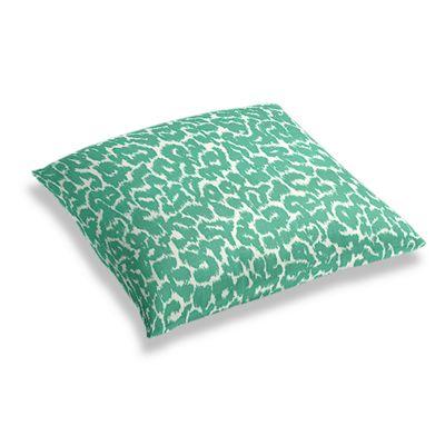 Bright Green Leopard Print Floor Pillow